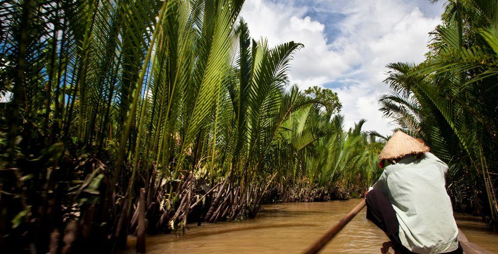 Un relajante paseo por el Delta de Mekong