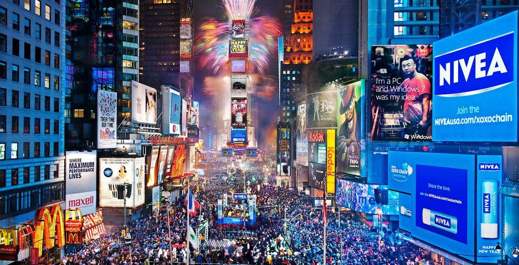 De entre todos los lugares que nos ofrece la ciudad para celebrar la Nochevieja el más famoso es quizás Times Square