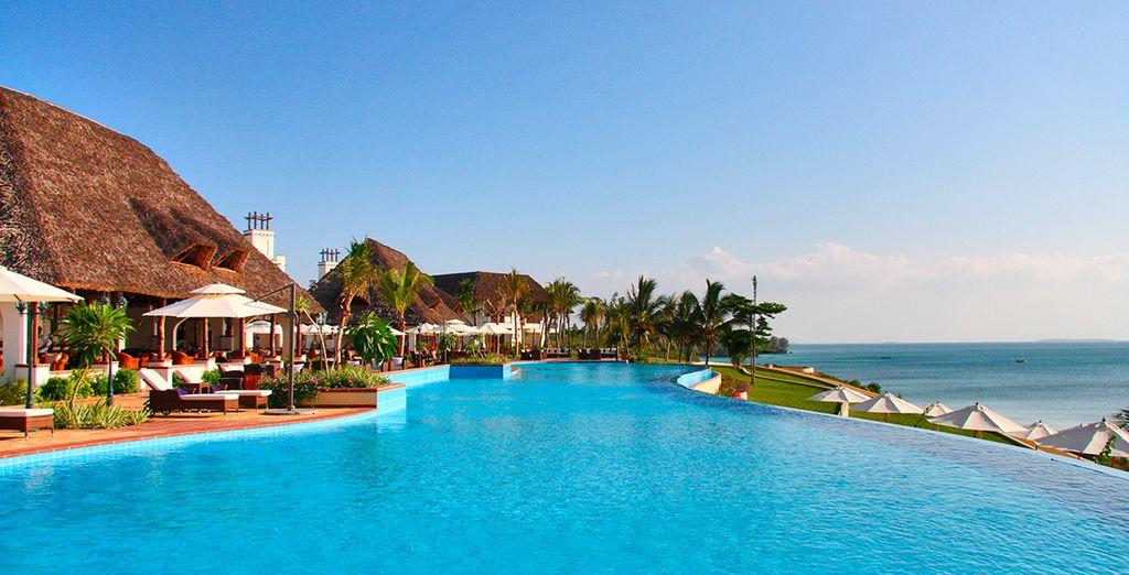 Refrésquese en esta maravillosa piscina