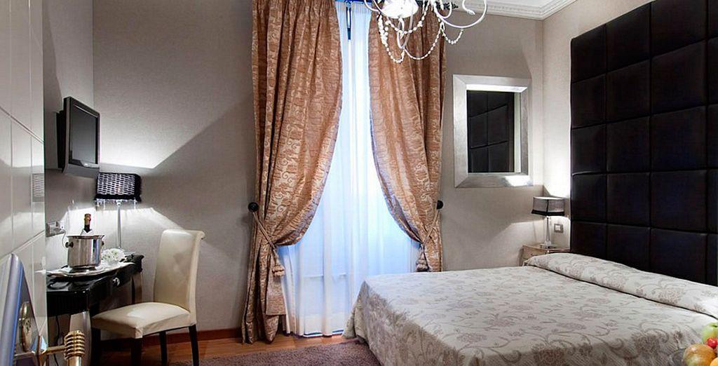 Su estancia en Roma será perfecta en una habitación Superior