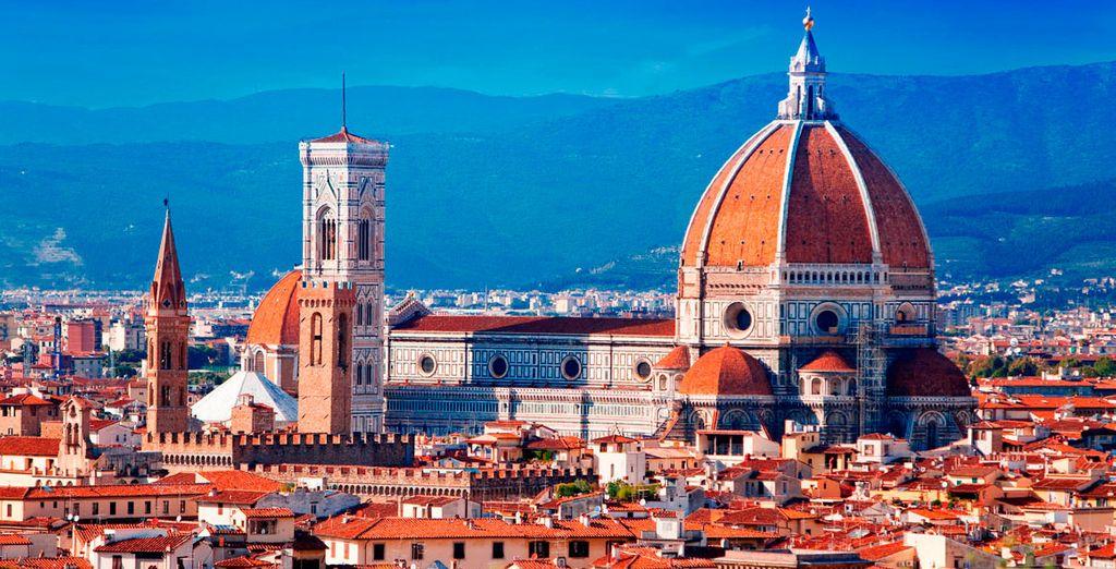 Vista de Florencia desde el mirador de Piazzale Michelangello