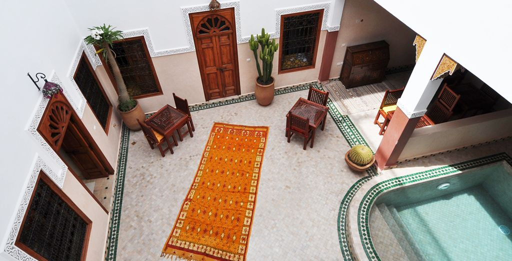 En el corazón de la medina de Marrakech