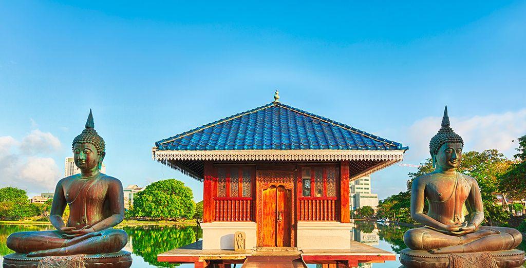 La capital de Sri Lanka dispone de bellos rincones, como el templo Seema Malaka