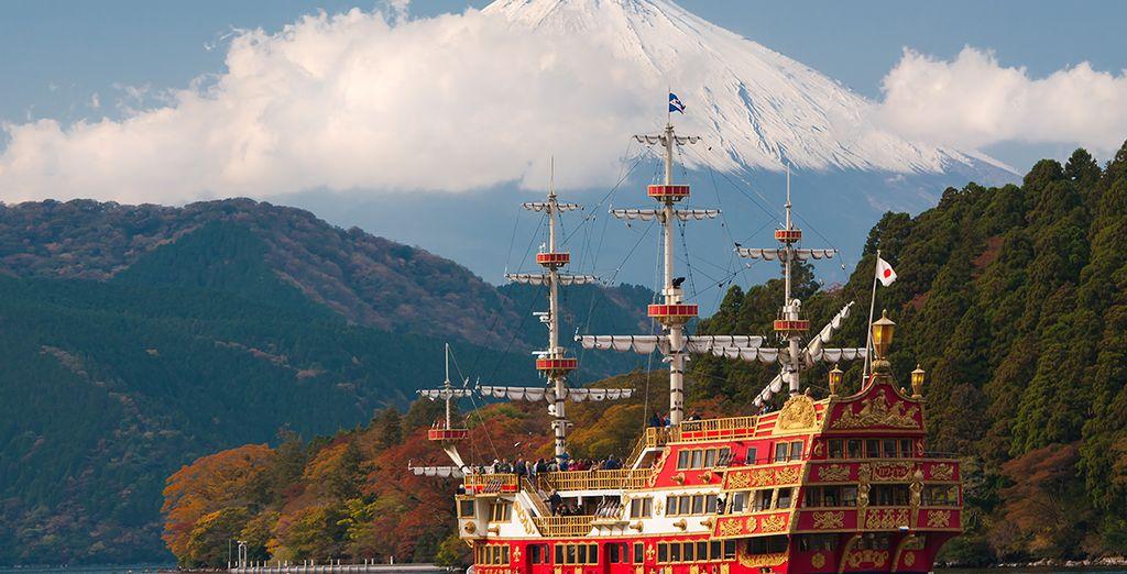En Hakone disfrutará del bello paisaje y de las mejores vistas del imponente volcán desde todas sus perspectivas