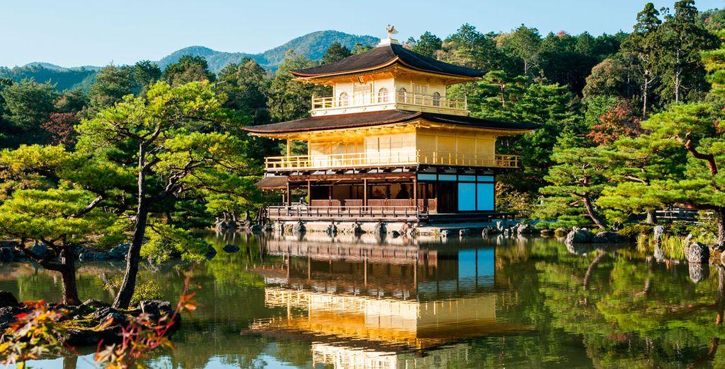Visitará el bello templo de Kinkakuji