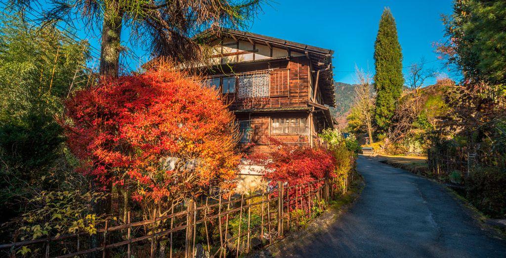 Su viaje continuará hacia el tradicional pueblo de Tsumago