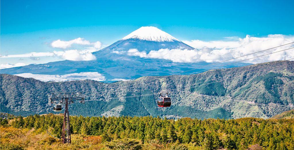 Cogerá un teleférico hasta Owakudani