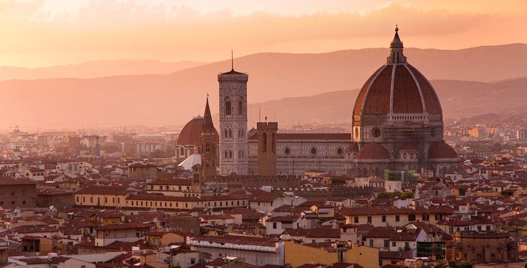 Vista de Florencia desde el monte Miquelangello