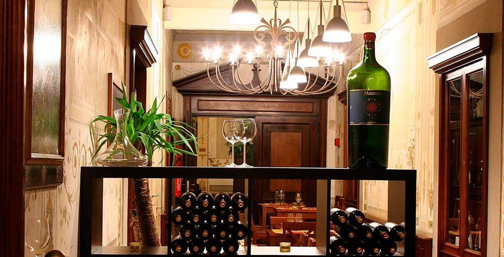 Dispone de una gran lista de vinos italianos