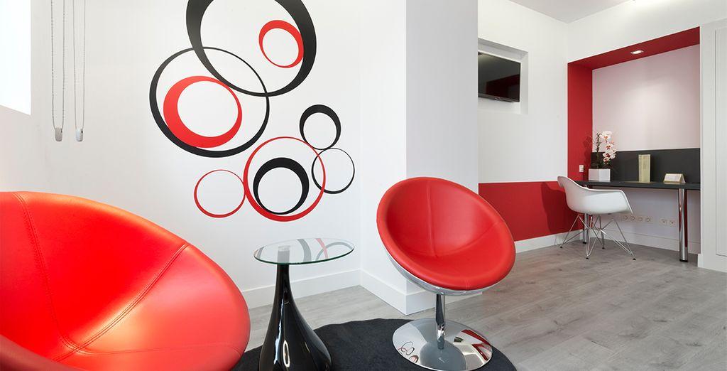Agradable detalles de estilo moderno y funcional