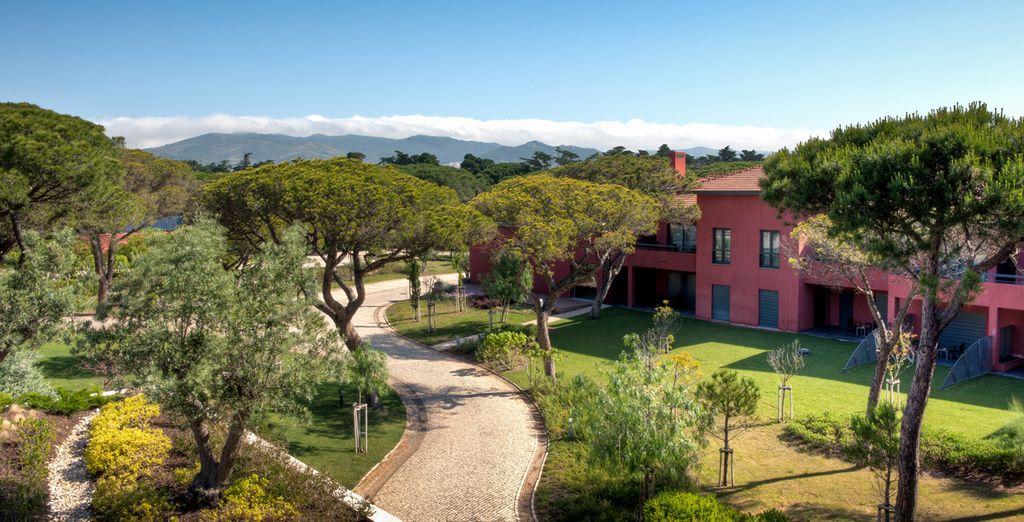 El hotel está integrado en un entorno natural