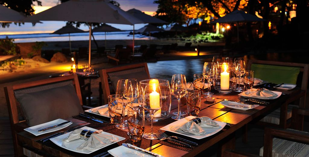 Cenas románticas e íntimas en Isla Mauricio