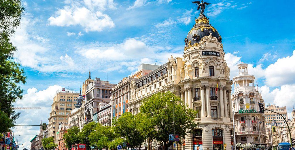 Un hotel emplazado en el corazón de la Gran Vía Madrileña