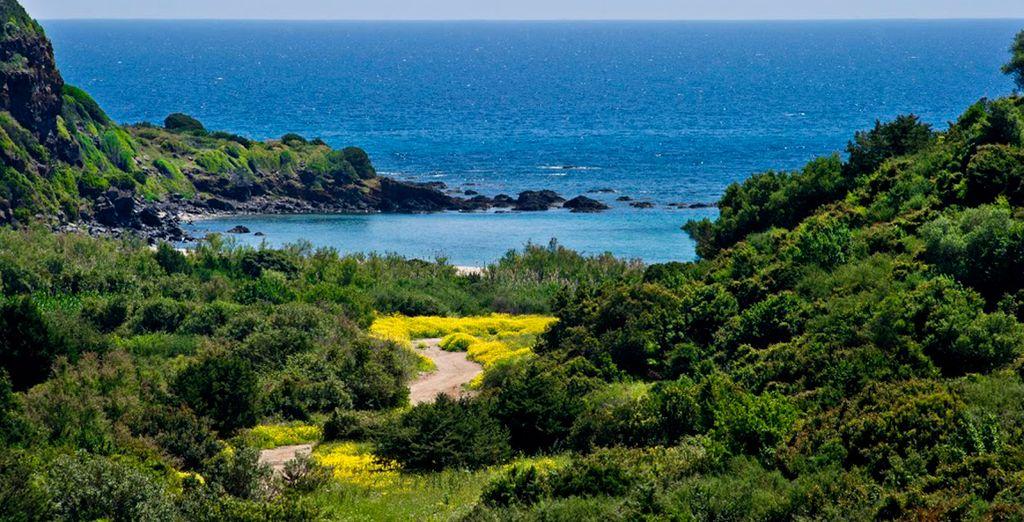 Admire la pintoresca localidad costera de Cala Gonone
