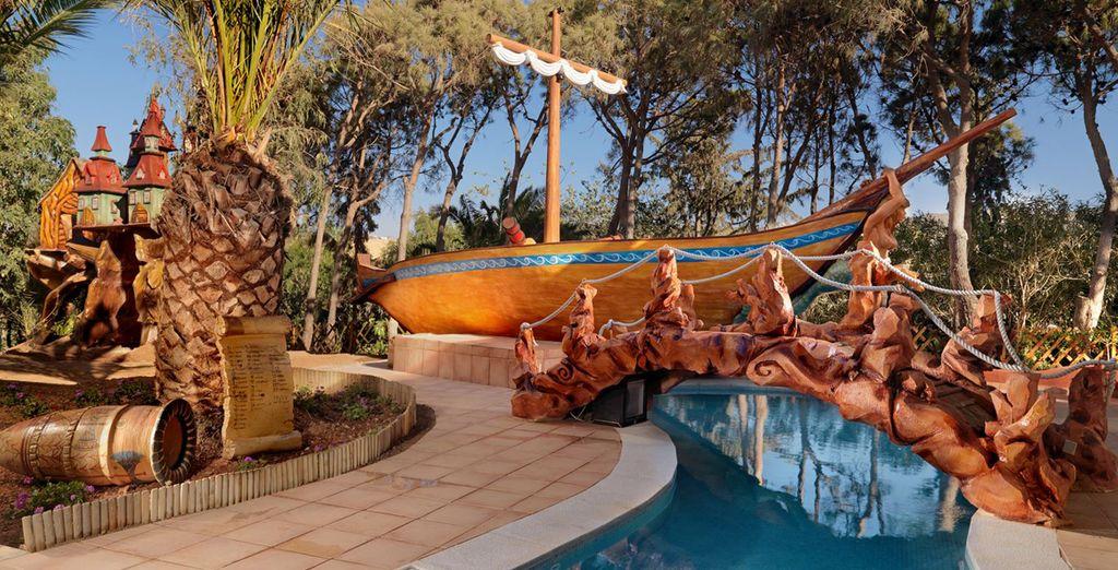 Un hotel que piensa en la diversión para los más pequeños: un parque de atracciones minoico