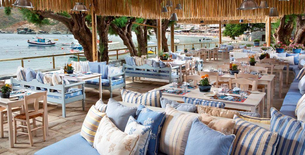 Un lugar donde degustar los sabores típicamente griegos, como el Seasalt y Rosemary