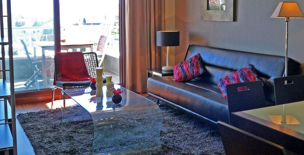 Salones luminosos con terraza