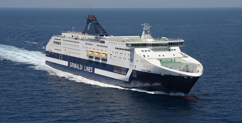 Grimaldi Lines navegando rumbo a Cerdeña