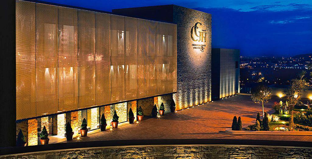 Un hotel de lujo que cuenta con un diseño muy cuidado