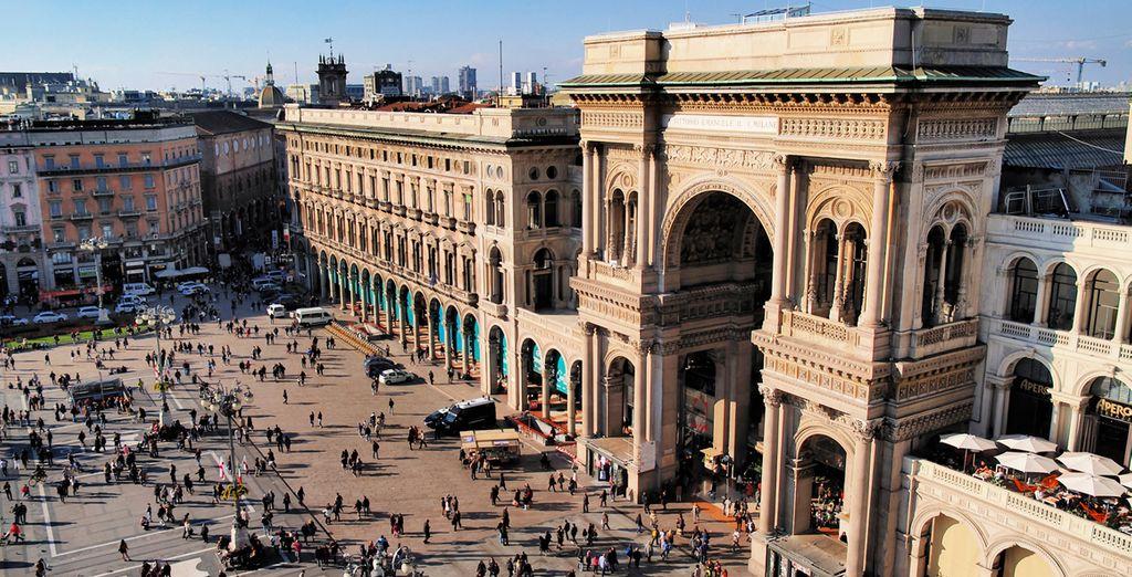 Finalmente, visitarás la ciudad de Milán, en la plana de Lombardia