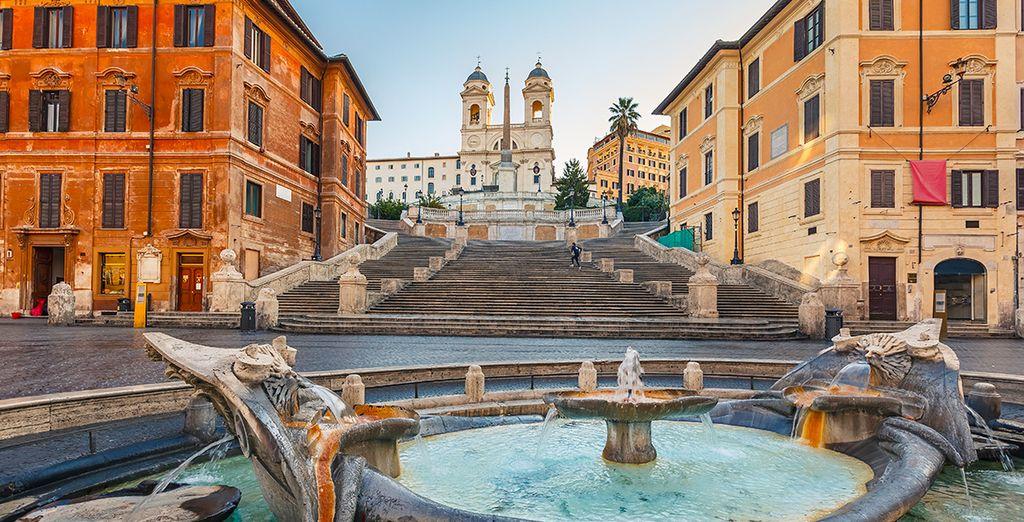 Pasea por la Piazza Spagna