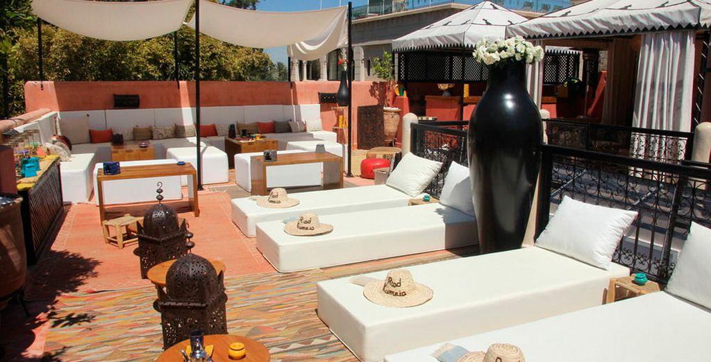 Riad Kumeia te invita a descubrir su agradable terraza