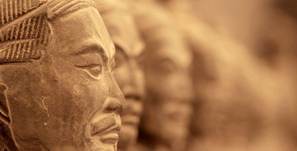Los famosos Guerreros de Terracota en Xian