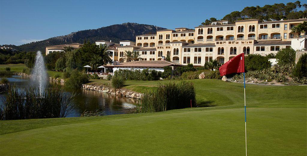 Un resort donde se practica el golf