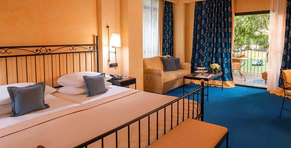 Combinación de placidez mediterránea y elegancia mallorquina en las habitaciones