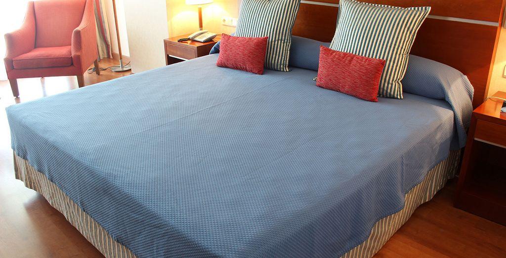 Descansa en tu cómoda habitación Doble
