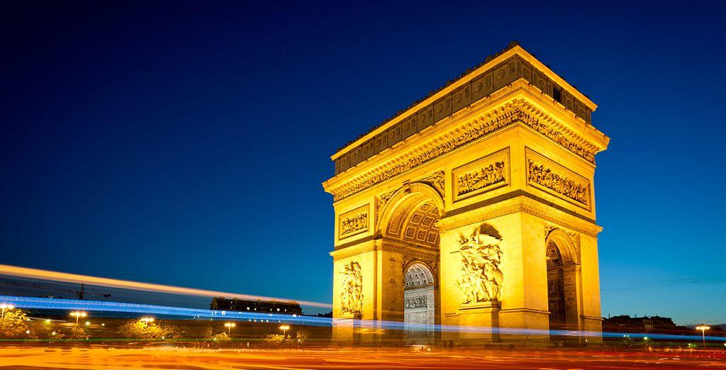 El Arco de Triunfo te enamorará
