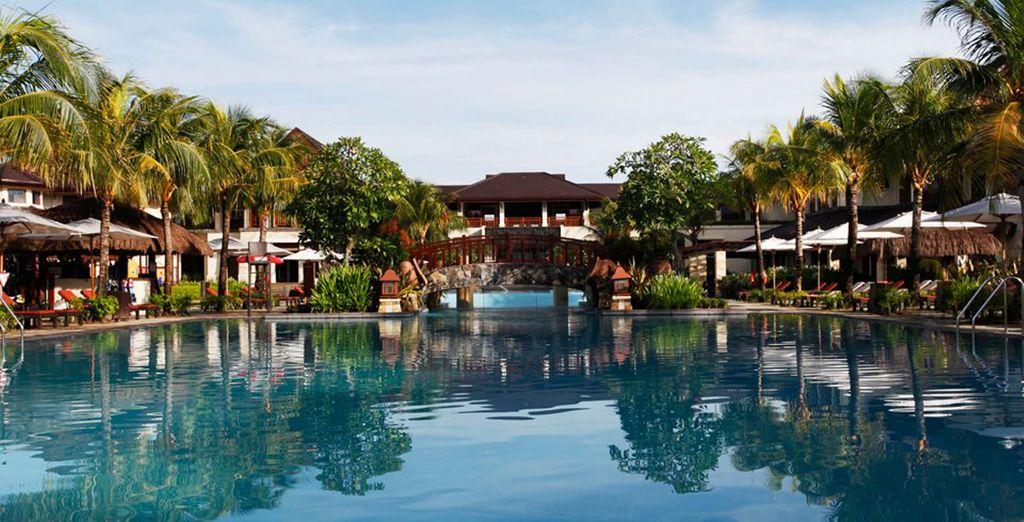 Una lujosa estancia en un lugar tropical