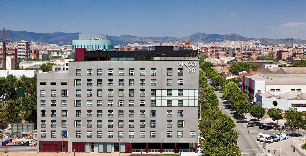 El Hotel Vincci Bit se sitúa en la zona Diagonal Mar