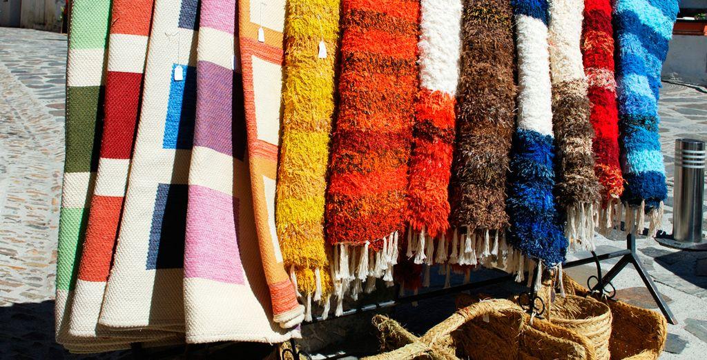 Típicas jarapas fabricadas en la región