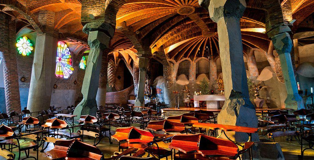 Colonia Güell, una muestra de interiores asombrosos