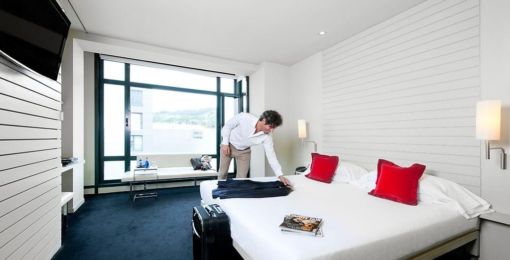 ¡Tu habitación City Double con vistas al Guggenheim te encantará!