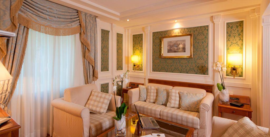Un estancia amplia y confortable