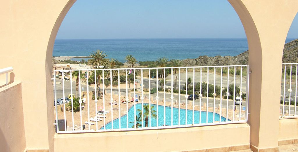 Con fantásticas vistas al Mediterráneo