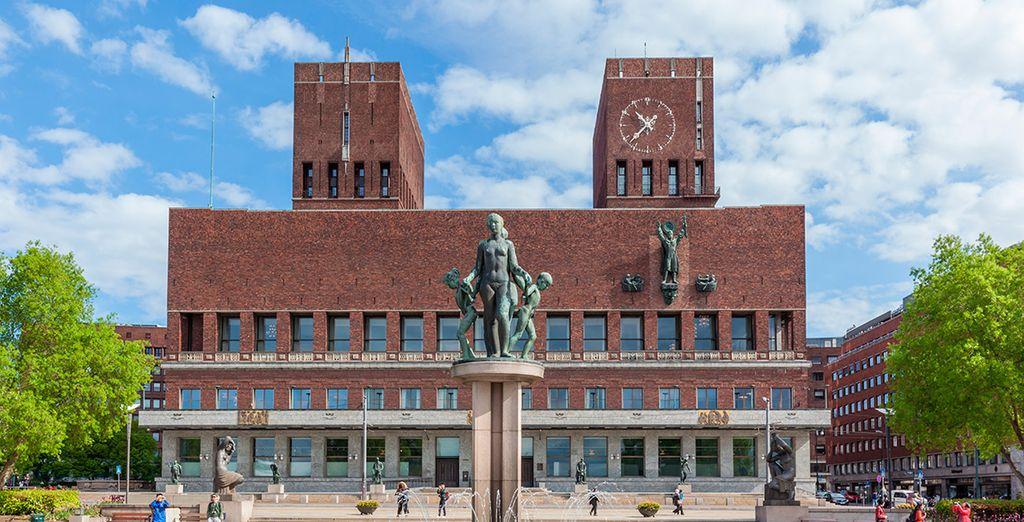 El edificio del ayuntamiento de Oslo
