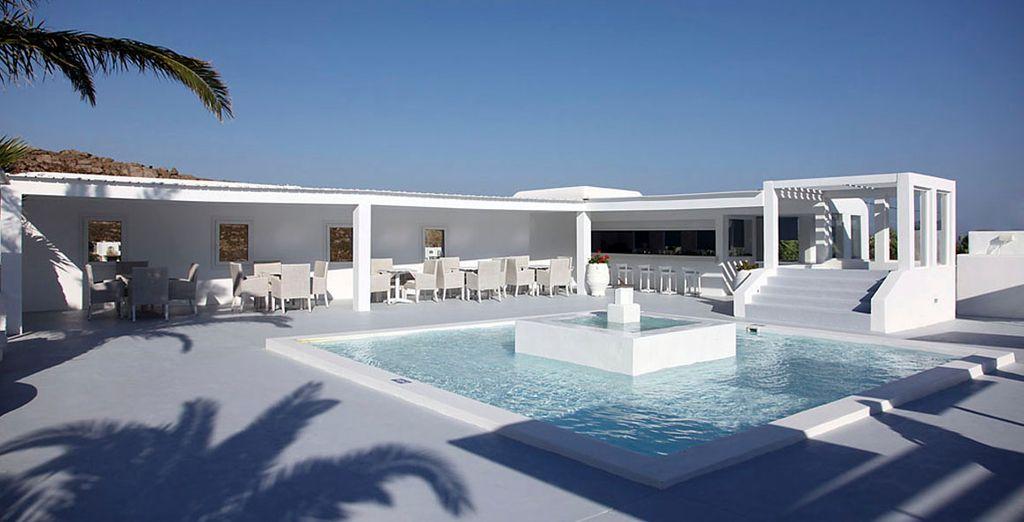 El bar de la piscina, perfecto para un aperitivo