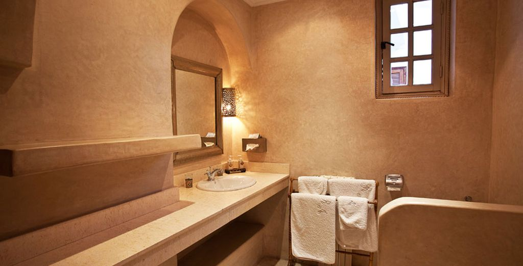 Con baño privado totalmente equipado en tu habitación