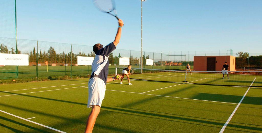 Podrás disfrutar de las instalaciones deportivas del resort