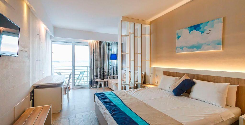 Te presentamos tu habitación con vistas al mar