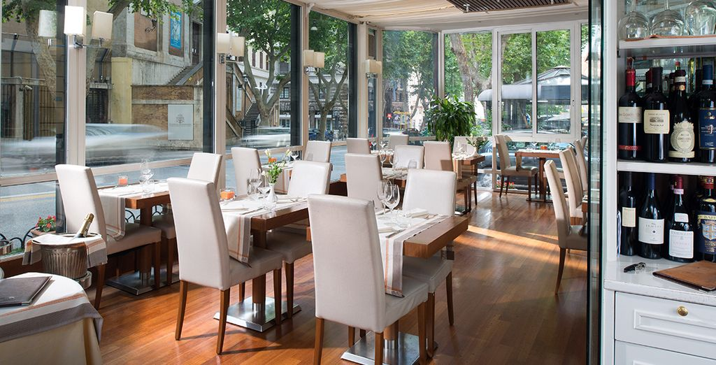 El restaurante Gazebo está situado en la Via Veneto...