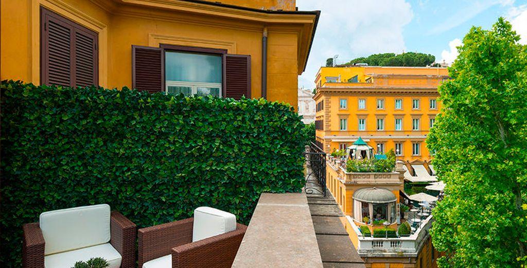 Hotel Imperiale 4* se encuentra en la Via Veneto de Roma, muy cerca de la estación de Termini