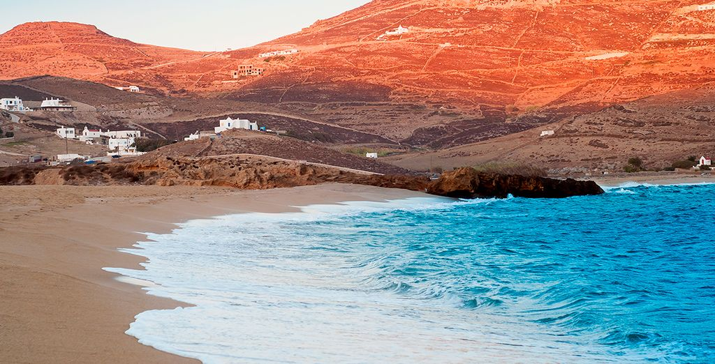 La belleza de la playa de Ftelia