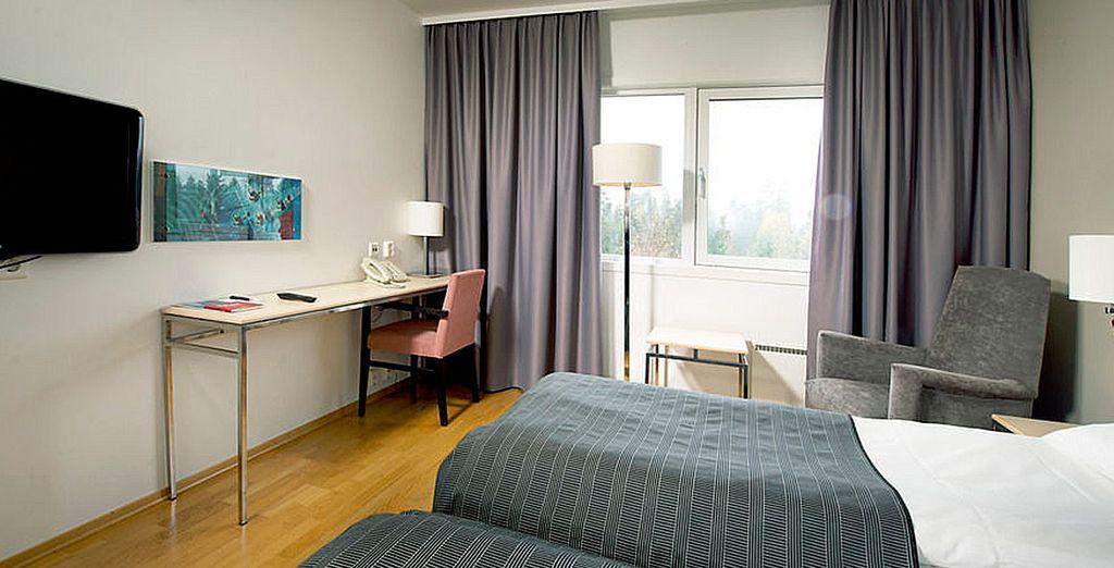 Descansarás cómodamente en tu habitación