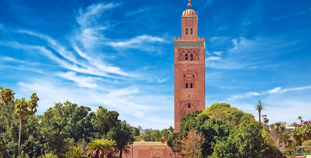O la mezquita Koutubia, la más famosa de la ciudad