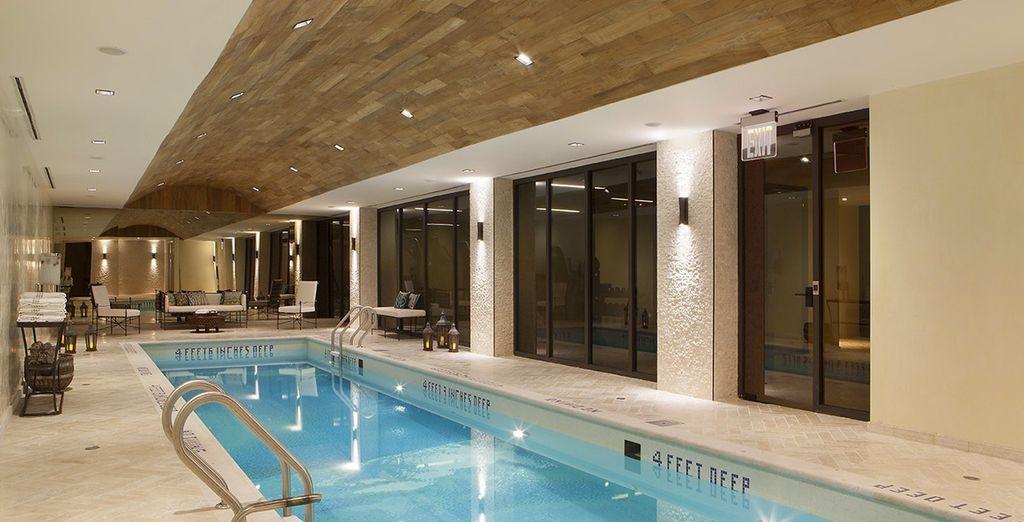 El hotel dispone de SPA, gimnasio, piscina ...