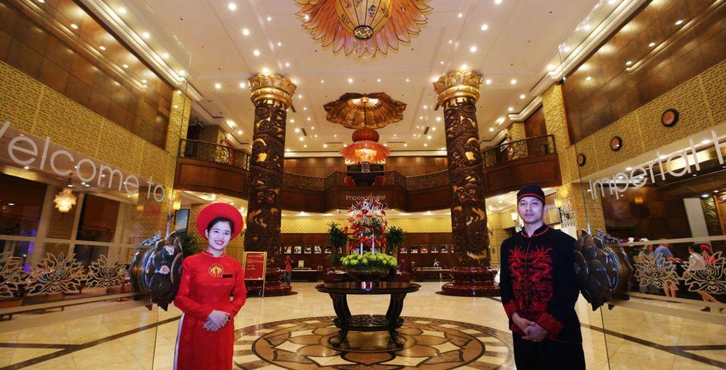 Tu opción de hotel 5* podrás ser en el Imperial Hue Hotel 5*